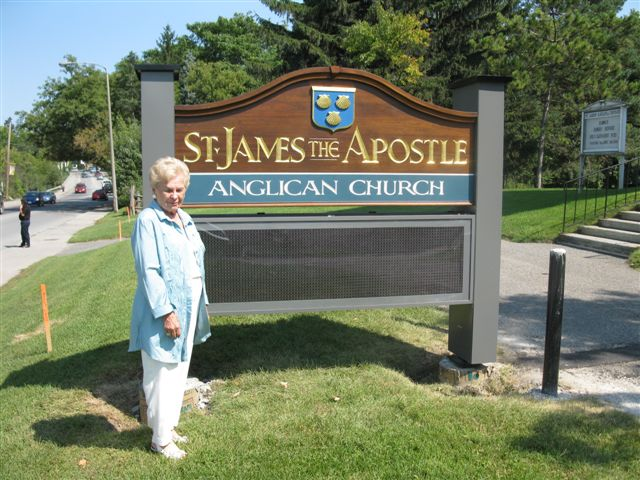 New sign in front of church